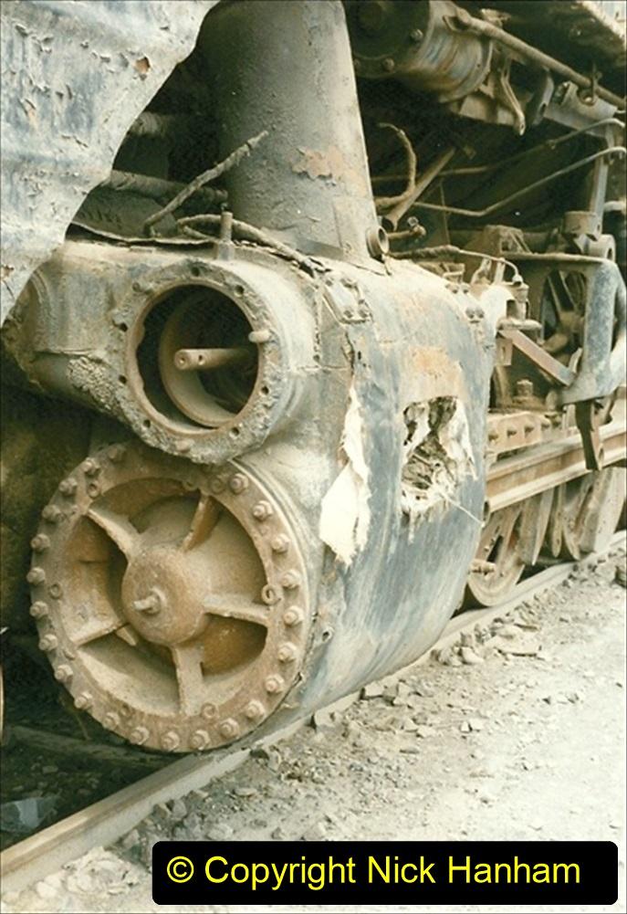 Pakistan and China 1996 June. (51) Zhongwei China Rail Depot. No more steam on the big hill. 051
