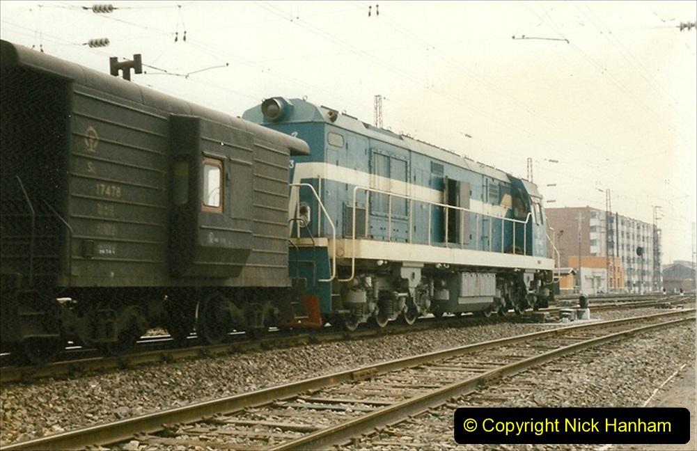 Pakistan and China 1996 June. (55) Zhongwei China Rail Depot. 055