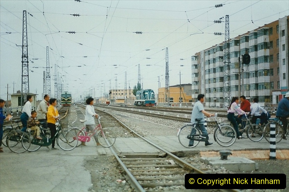 Pakistan and China 1996 June. (60) Zhongwei China Rail Depot. 060