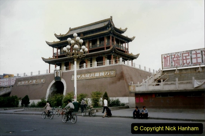 Pakistan and China 1996 June. (126) Zhongwei with replica of Tienanmen Square. 124