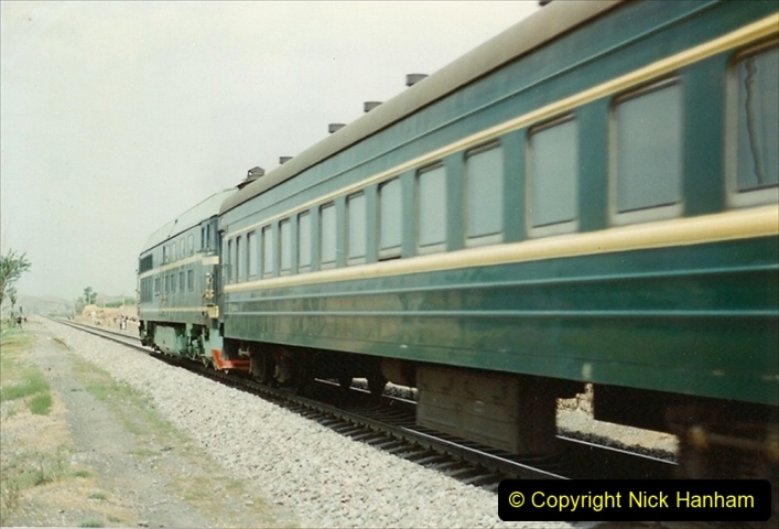 Pakistan and China 1996 June. (130) Linesiding on the way to Baotou and local village. 128