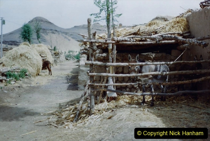 Pakistan and China 1996 June. (139) Linesiding on the way to Baotou and local village and farm.  139
