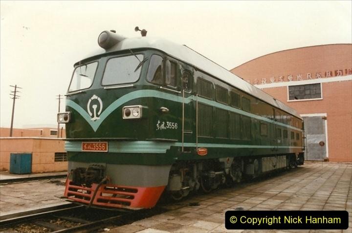 Pakistan and China 1996 June. (15) Zhongwei China Rail Depot. 015