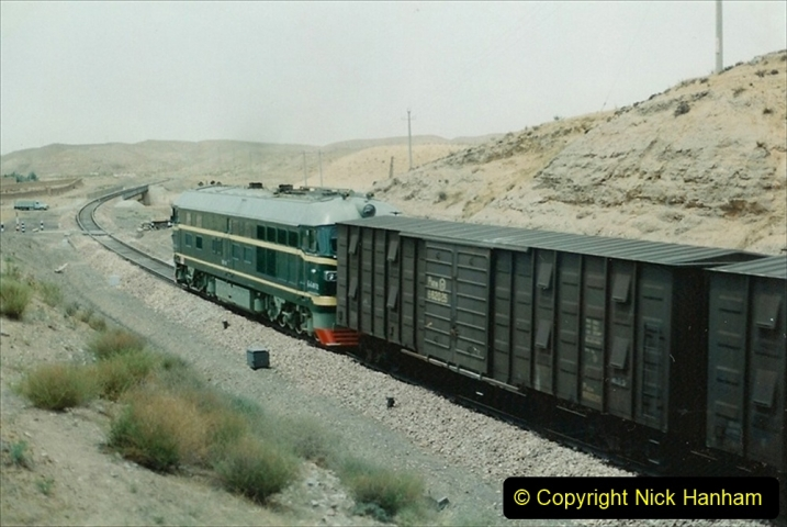 Pakistan and China 1996 June. (153) Linesiding on the way to Baotou and local village. 153