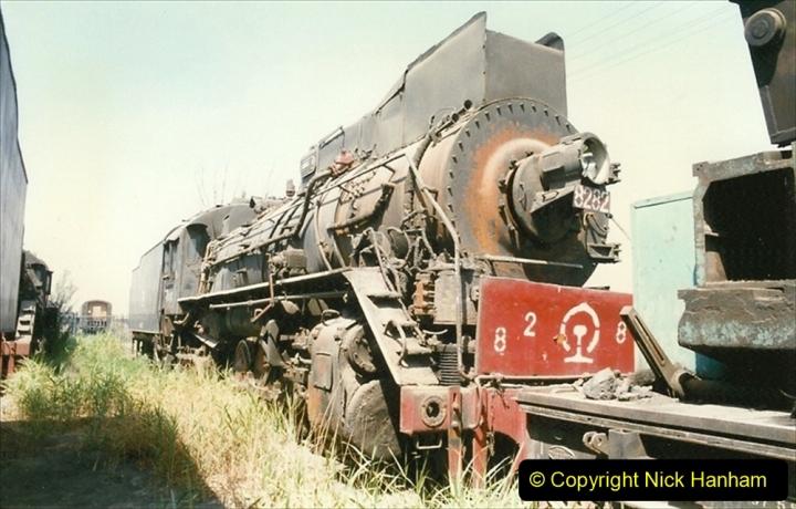 Pakistan and China 1996 June. (166) Baotou China Rail Depot. The Depot Museum. 166