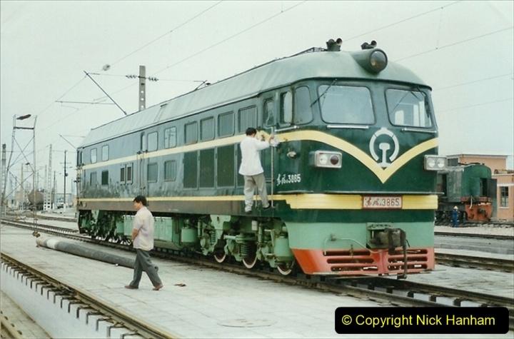 Pakistan and China 1996 June. (17) Zhongwei China Rail Depot. 017