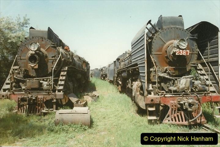 Pakistan and China 1996 June. (182) Baotou China Rail Depot. The Depot Museum. 182