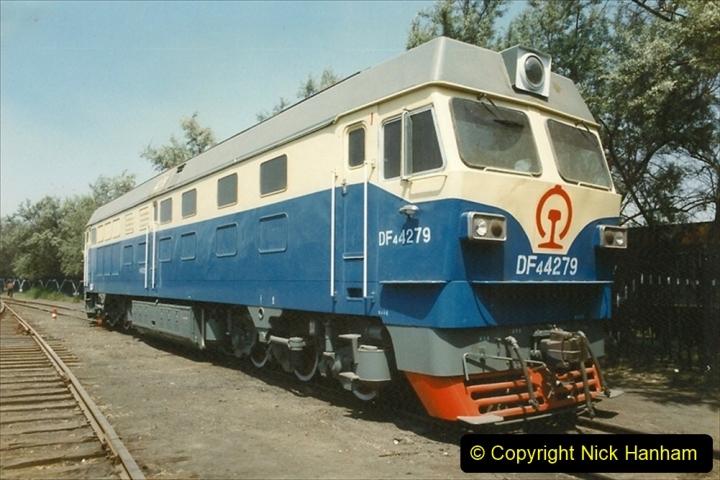 Pakistan and China 1996 June. (185) Baotou China Rail Depot. 185
