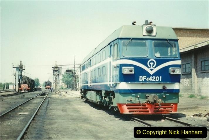 Pakistan and China 1996 June. (188) Baotou China Rail Depot. 188