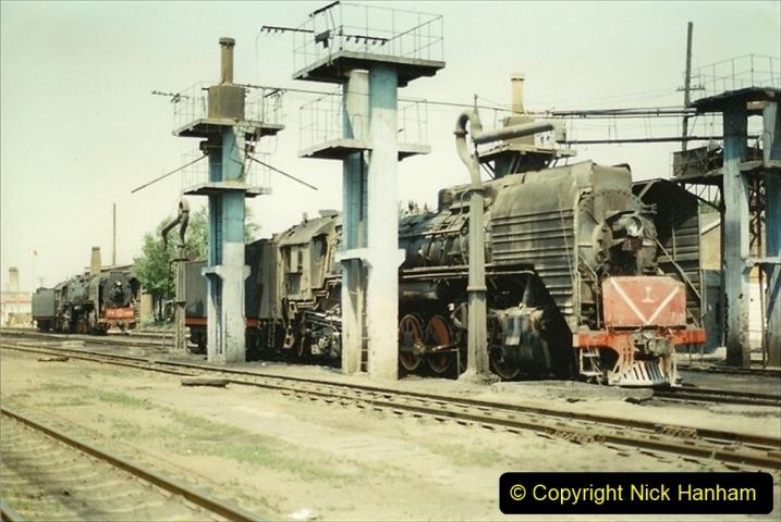 Pakistan and China 1996 June. (190) Baotou China Rail Depot. 190