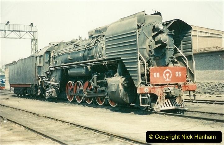 Pakistan and China 1996 June. (194) Baotou China Rail Depot. 194