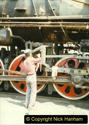 Pakistan and China 1996 June. (198) Baotou China Rail Depot. 198