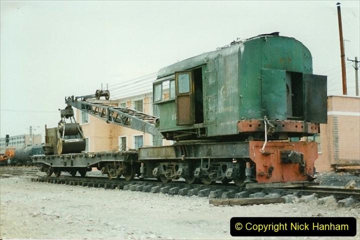 Pakistan and China 1996 June. (20) Zhongwei China Rail Depot. 020