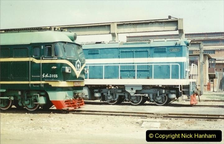 Pakistan and China 1996 June. (201) Baotou China Rail Depot. 201