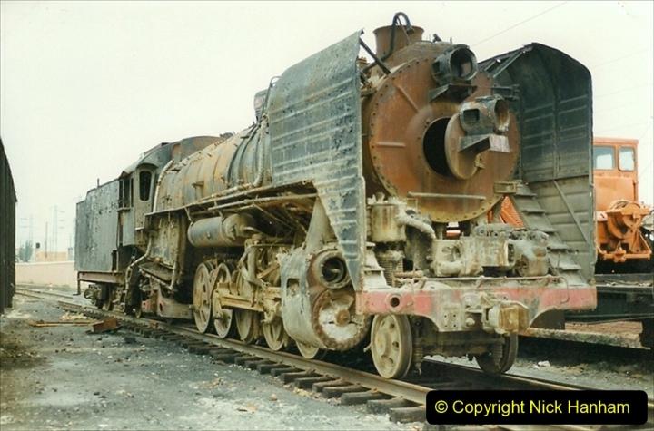 Pakistan and China 1996 June. (21) Zhongwei China Rail Depot. 021