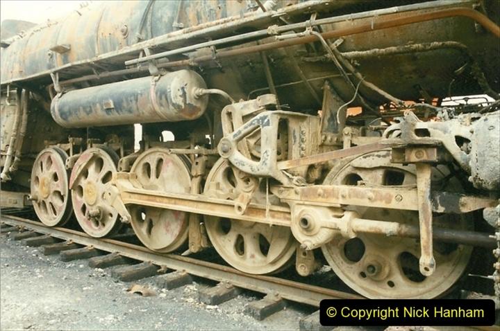 Pakistan and China 1996 June. (23) Zhongwei China Rail Depot. 023