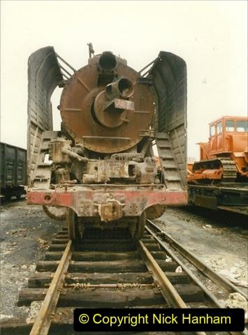 Pakistan and China 1996 June. (24) Zhongwei China Rail Depot. 024