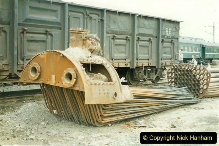 Pakistan and China 1996 June. (26) Zhongwei China Rail Depot. 026