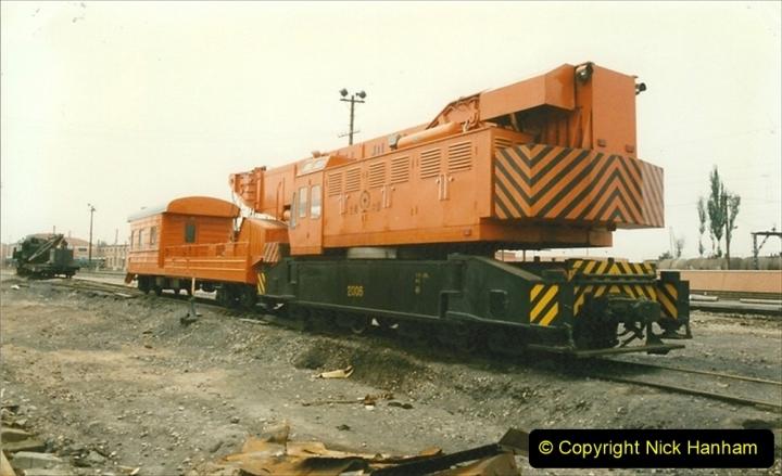 Pakistan and China 1996 June. (29) Zhongwei China Rail Depot. 029