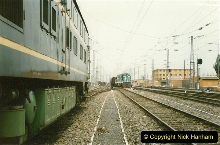 Pakistan and China 1996 June. (35) Zhongwei China Rail Depot. 035