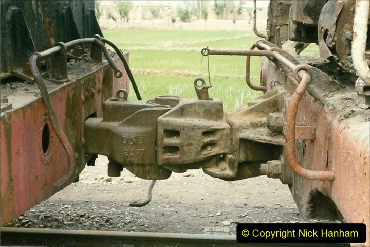 Pakistan and China 1996 June. (39) Zhongwei China Rail Depot. No more steam on the big hill. 039