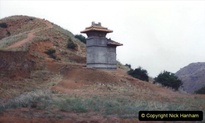 Pakistan and China 1996 June. (395) The Great Wall of China is NOT all brick. 395
