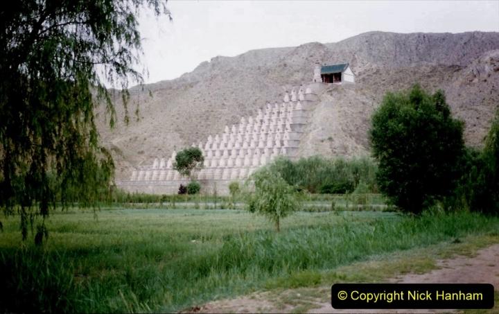 Pakistan and China 1996 June. (4) Visit to the 108 Pagodas at Quingtongxia.  004