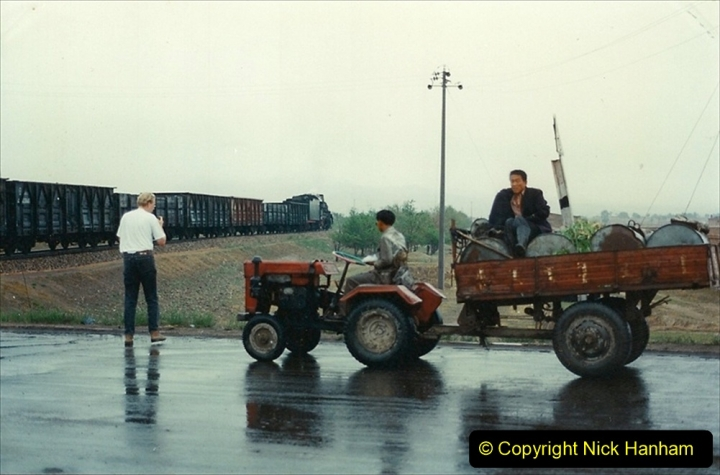 Pakistan and China 1996 June. (400) Road crossing on the way to Baotou Sub Depot. 400
