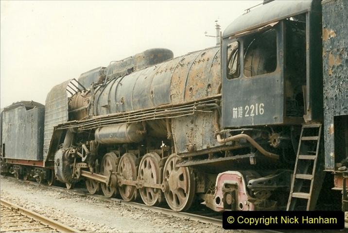 Pakistan and China 1996 June. (46) Zhongwei China Rail Depot. No more steam on the big hill. 046