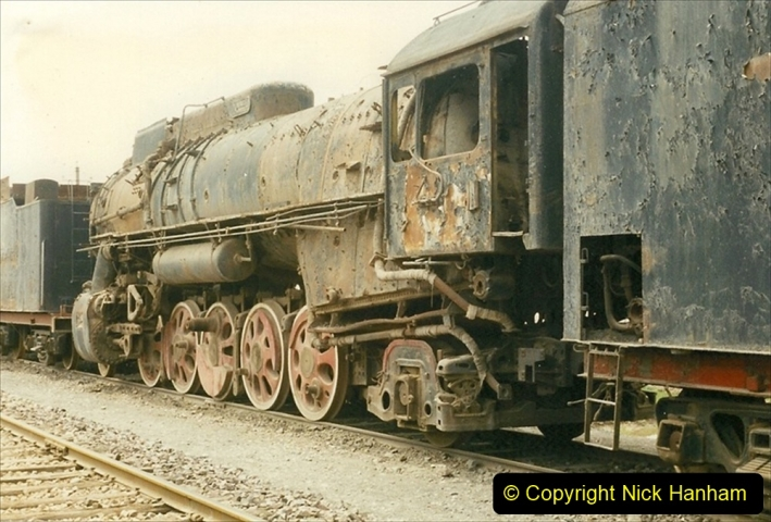 Pakistan and China 1996 June. (47) Zhongwei China Rail Depot. No more steam on the big hill. 047