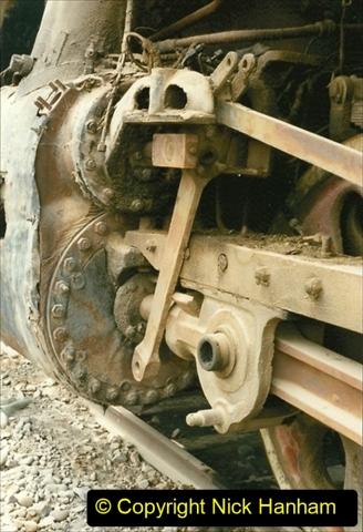 Pakistan and China 1996 June. (49) Zhongwei China Rail Depot. No more steam on the big hill. 049