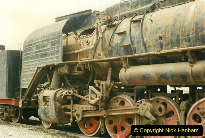 Pakistan and China 1996 June. (52) Zhongwei China Rail Depot. No more steam on the big hill. 052