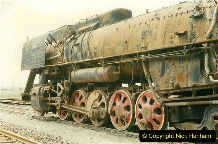 Pakistan and China 1996 June. (53) Zhongwei China Rail Depot. No more steam on the big hill. 053