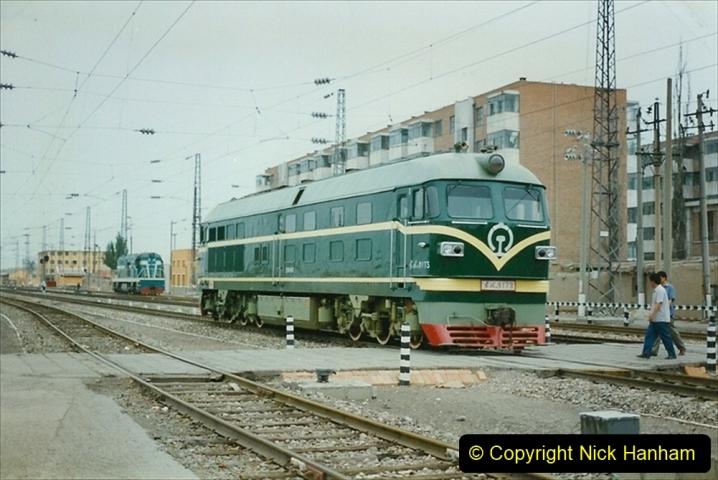 Pakistan and China 1996 June. (57) Zhongwei China Rail Depot. 057