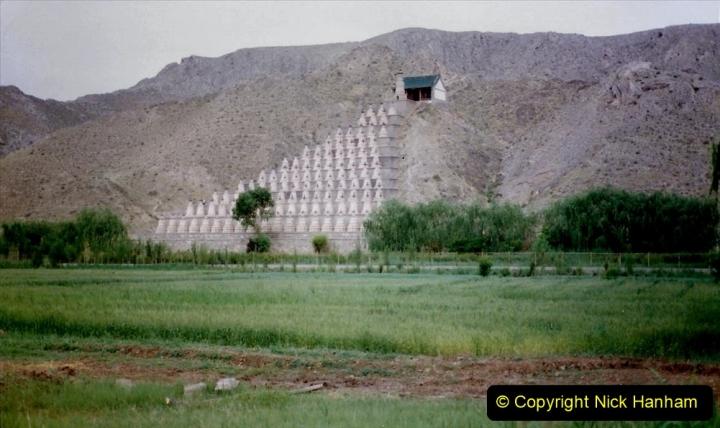 Pakistan and China 1996 June. (6) Visit to the 108 Pagodas at Quingtongxia.  006