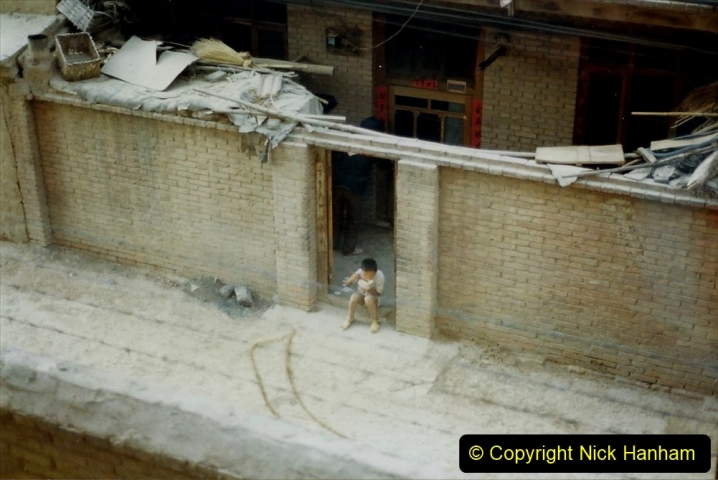 Pakistan and China 1996 June. (94) Zhongwei Hotel and my room with a view. 094
