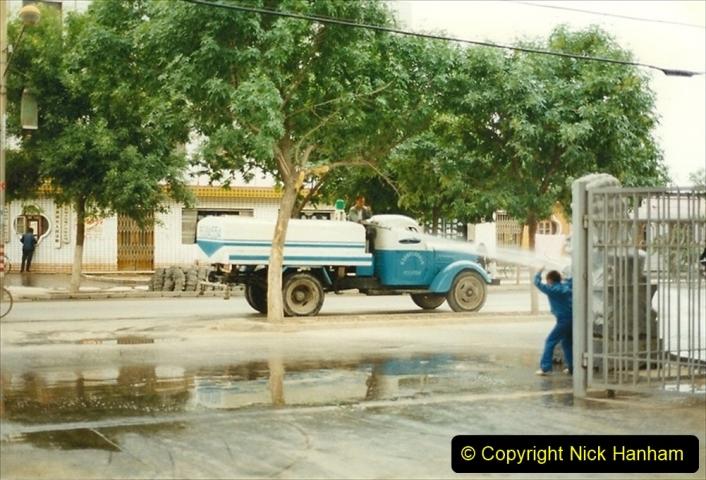 Pakistan and China 1996 June. (99) Zhongwei. Street cleaning.099
