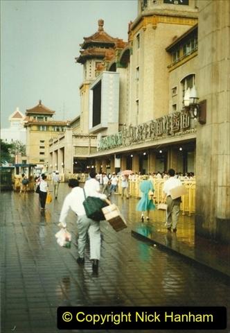 Pakistan and China 1996 June. (140) Beijing Main Station. 140