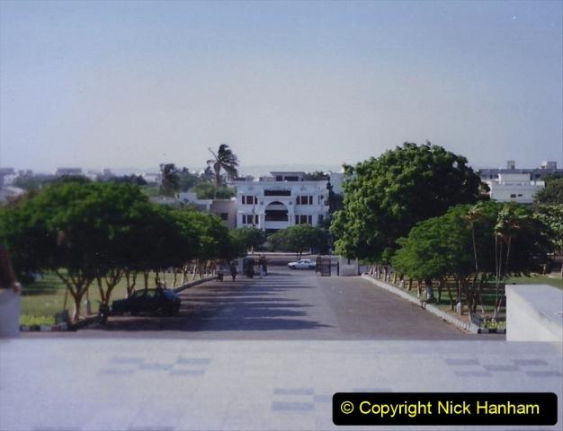 Pakistan and China 1996 June. (20) Jinnah Mausoleum. Jinnah Ali Jinnah, founder of Pakistan, is burried here. 020