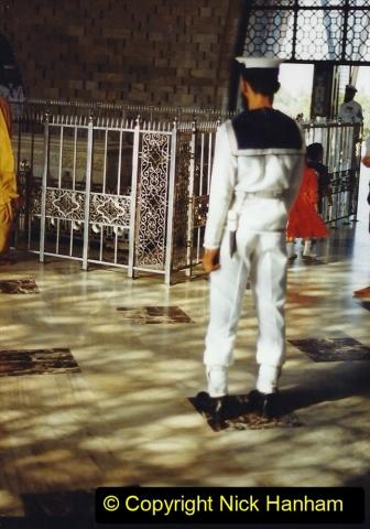 Pakistan and China 1996 June. (23) Jinnah Mausoleum. Jinnah Ali Jinnah, founder of Pakistan, is burried here. 023