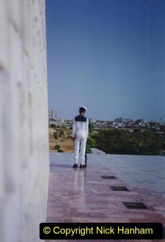 Pakistan and China 1996 June. (24) Jinnah Mausoleum. Jinnah Ali Jinnah, founder of Pakistan, is burried here. 024