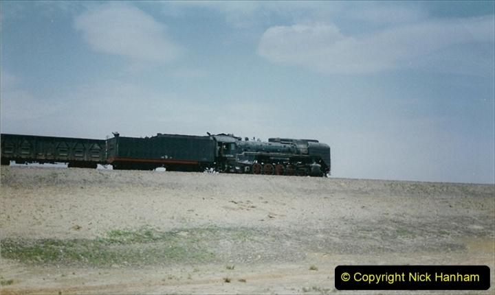 Pakistan and China 1996 June. (277) Linesiding outside Shizuishan. 277