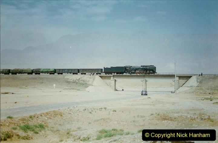 Pakistan and China 1996 June. (278) Linesiding outside Shizuishan. 278