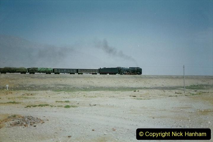 Pakistan and China 1996 June. (279) Linesiding outside Shizuishan. 279