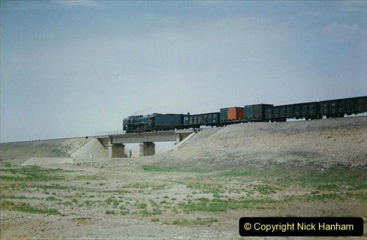 Pakistan and China 1996 June. (282) Linesiding outside Shizuishan. 282