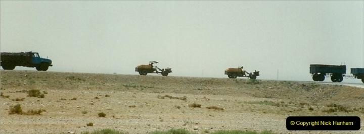 Pakistan and China 1996 June. (283) Linesiding outside Shizuishan. 283
