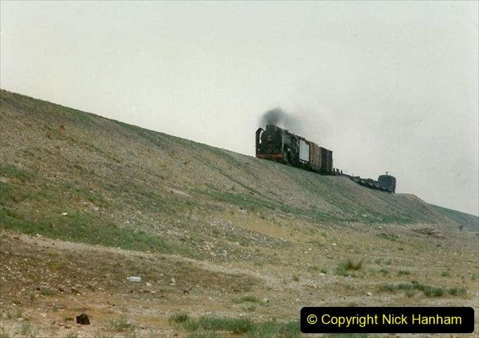 Pakistan and China 1996 June. (284) Linesiding outside Shizuishan. 284