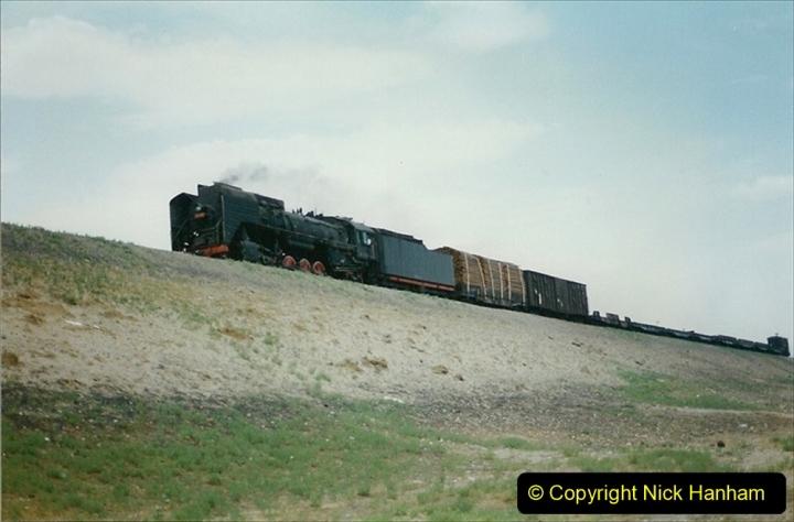 Pakistan and China 1996 June. (285) Linesiding outside Shizuishan. 285