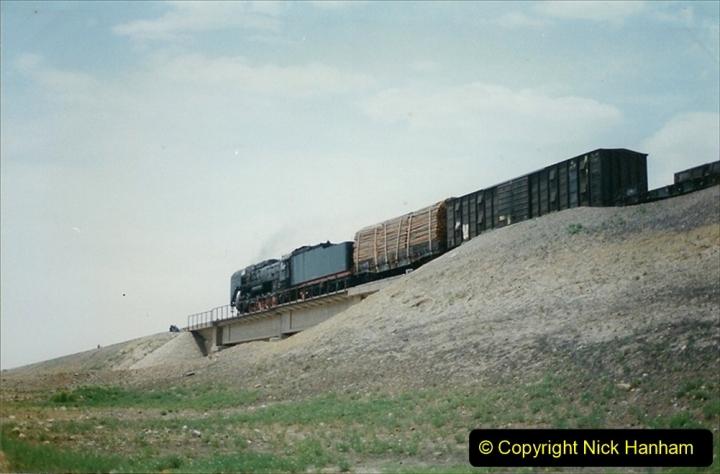Pakistan and China 1996 June. (286) Linesiding outside Shizuishan. 286