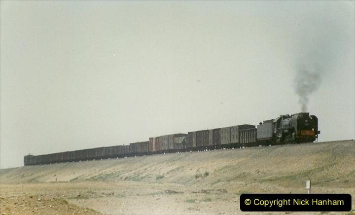 Pakistan and China 1996 June. (288) Linesiding outside Shizuishan. 288